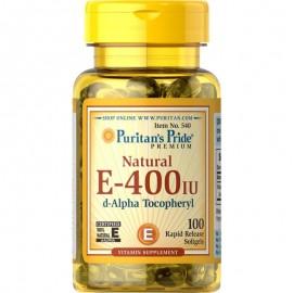 Witamina E 400 IU 100 kapsułek Puritan's Pride
